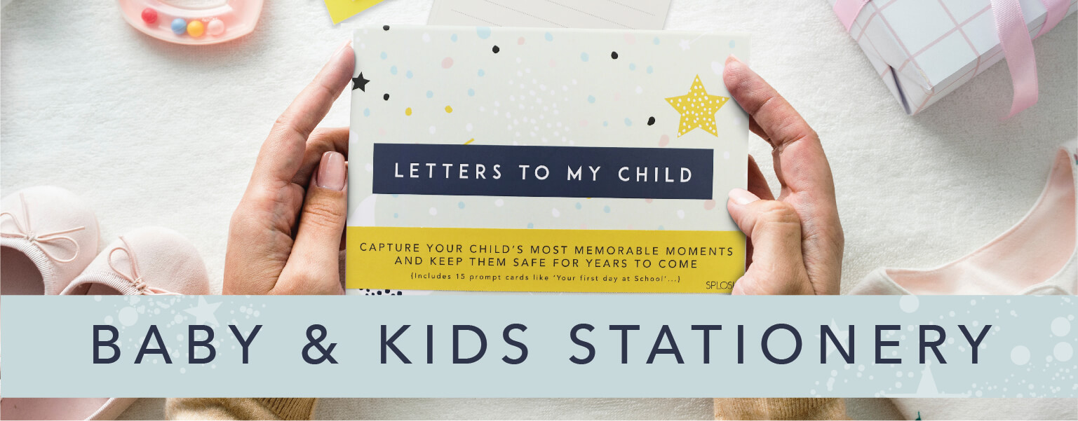 Shop our Baby & Kids Stationery collection!